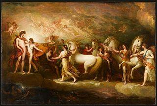 Phaeton asking Apollo to drive the Sun chariot