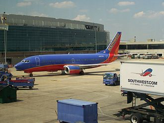 Southwest Airlines Flight 2294 - N387SW, the aircraft involved in the incident, photographed in 2008 at Philadelphia International Airport.