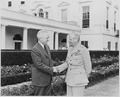 Photograph of President Truman shaking hands with Field Marshal Viscount Montgomery of Alamein (Bernard Montgomery)... - NARA - 199420.tif