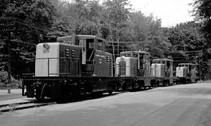 GE 65-ton switcher - US Army 65-ton locos at the Picatinny Arsenal.
