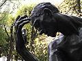 Pierre de Wissant par Rodin, zoom sur la tête et sa main levée.jpg