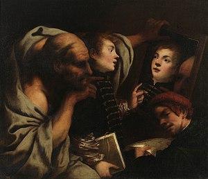 Pietro della Vecchia - Socrates and Two Students