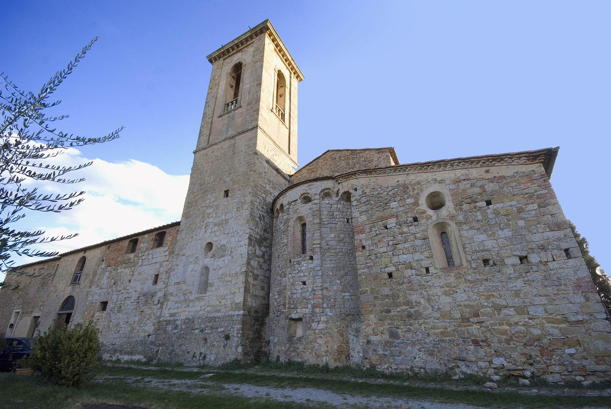 Pieve di Sant'Appiano, abside, Barberino Val d'Elsa