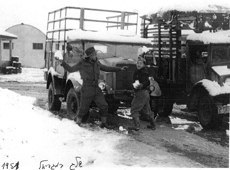 שלג במגדיאל 1950