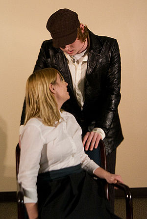 Silence (1969 play) - Ellen and Bates, in 2008 Shimer College production