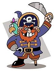 En tegning av en barnevennlig pirat