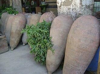 Pisco - Old amphorae called pisko in Cañete Valley - Peru
