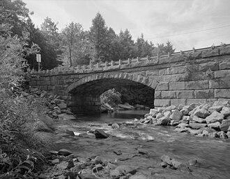 Pithole Stone Arch Bridge - HAER photo of the bridge in 1997