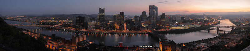 Pittsburgh dawn city pano