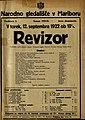 Plakat za predstavo Revizor v Narodnem gledališču v Mariboru 12. septembra 1922.jpg