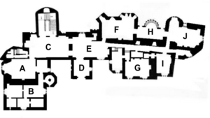 Dunster Castle on large great room floor plans