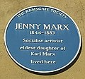 Plaque. Jenny Marx Longuet, Ramsgate house.jpg