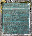 Plaque on Penlle'r Castell - geograph.org.uk - 148941.jpg