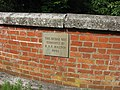 Plaque recording renovation of the Rothschild canal bridge at RAF Halton - geograph.org.uk - 1356803.jpg