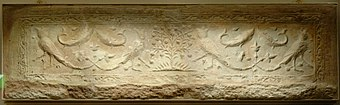 Plaster tile from Old city of Nishapur