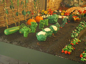 Plasticine - A life-size vegetable plot in James May's Paradise in Plasticine