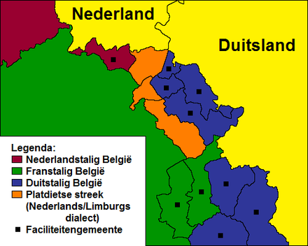 "The Limburgish-Ripuarian dialects of the Belgian ""Low German Communities"", west of the German-speaking Community, are endangered."