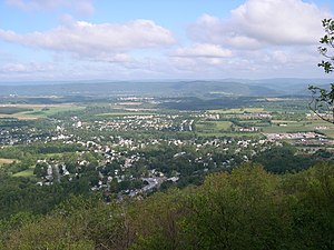 Pleasant Gap, Pennsylvania - Pleasant Gap as seen from Big Rock