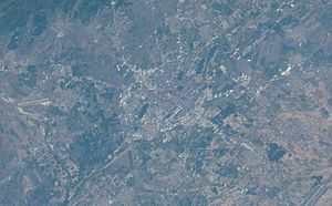 Plovdiv - Plovdiv seen from space