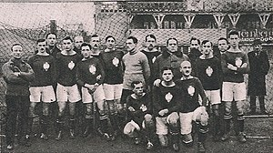 9c074d66f Reprezentacja Polski przed swoim pierwszym meczem w historii, 18 grudnia  1921.