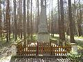 Pomnik w kształcie obelisku w pobliżu wsi Karszanek.JPG