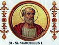 Pope St Marcellus I the Martyr of Rome 306-309.jpg