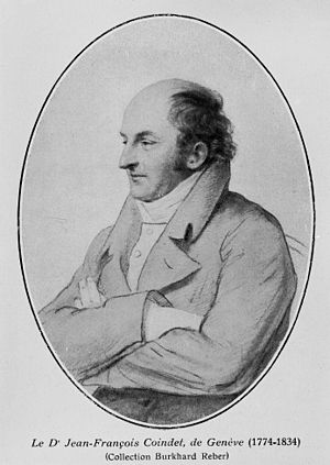 Jean-Francois Coindet - Portrait of Dr. Jean-Francois Coindet, from the Wellcome Collection