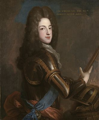 Jacobite line of succession to the English and Scottish thrones in 1714 - Anne's half-brother and first in line to the throne, James Francis Edward Stuart