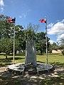 Portuguese-American Veterans Monument New Bedford w Flags.jpg