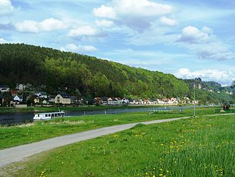 Bad Schandau - Postelwitz from the other side of the Elbe