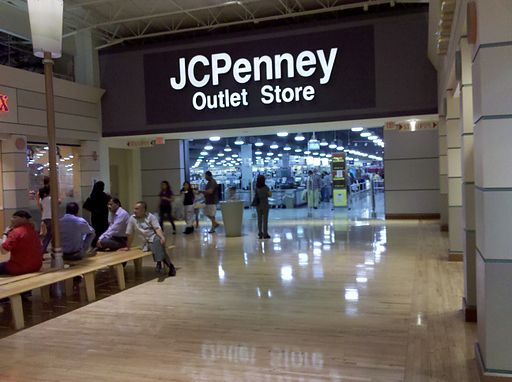 Potomac Mills JCPenney Outlet mall entrance