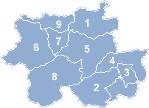 Sucha County - Image: Powiat suski map numbers