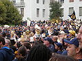Pregame football rally at Sproul Plaza 2009-09-05 6.JPG