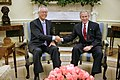 President George W. Bush meets with Senior Minister Goh Chok Tong of Singapore in the Oval Office.jpg