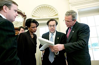 Michael Gerson - Dan Bartlett, Brett Kavanaugh, Condoleezza Rice, and Gerson review President George W. Bush's State of the Union speech in 2004