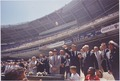 President attends the 32nd All-Star Baseball Game, throws out first ball. Speaker of the House John W. McCormack... - NARA - 194250.tif