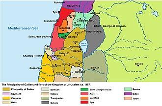 Principality of Galilee - Galilee in 1187