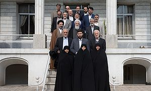 Iranian legislative election, 2016 - Principlists Grand Coalition's candidates for Tehran meeting with Ali Movahedi-Kermani, Secretary-General of Combatant Clergy Association