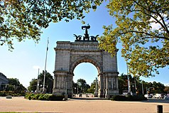The Soldiers' and Sailors' Arch in Grand Army Plaza