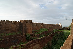 Bidar Fort - The triple moat of Bidar fort.
