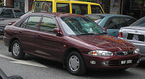 Proton Wira (Aeroback) (first generation, second facelift) (front), Serdang.jpg