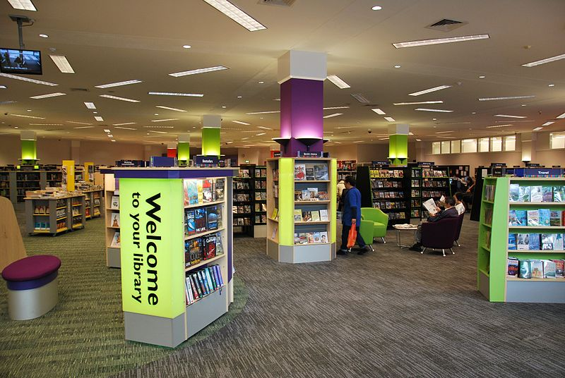 File:Public library interior, Woking England.jpg