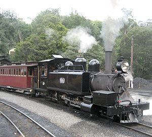 2-6-2 - Victorian Railways class NA 2-6-2 tank locomotive on the Puffing Billy Railway