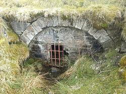 Pwll Du tramway tunnel portal.jpg