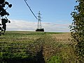 Pylon next to the footpath across The Downs - geograph.org.uk - 591897.jpg
