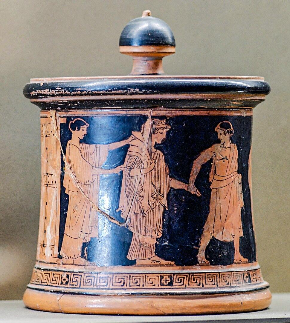 Pyxis Peleus Thetis Louvre L55 by Wedding Painter