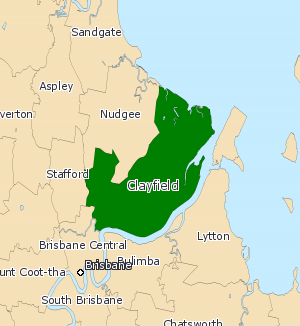 Electoral district of Clayfield - 2008 map