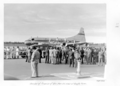 Queensland State Archives 4892 Arrival of Premier of Queensland Hon VC Gair at Eagle Farm September 1953.png