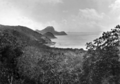 Queensland State Archives 924 The Gap Whitsunday Passage showing Lion Island Cawarra Head and with Whitsunday Island in distance from Lindeman Island June 1931.png
