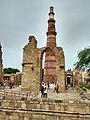 Qutub minar sneak through the Mosque compound 1.jpg